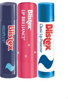 Blistex Medplus Stick + Işıltılı Lip Brilliance + Klasik Dudak Koruyucu