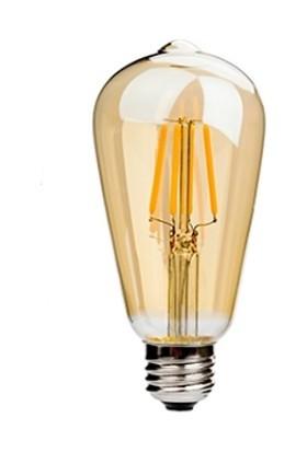 Cata Rustik LED Ampul ST64 6W E27 Duy Amber Işığı