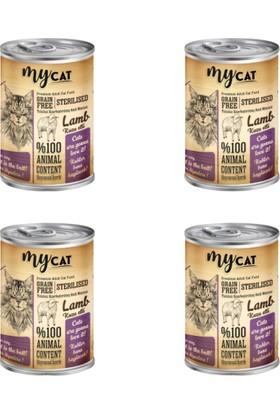My Cat Tahılsız Kuzu Etli ''kısır'' Kedi Konservesi 415 gr 4'lü