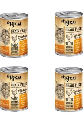 Mycat Tahılsız Tavuk Etli Kedi Konservesi 415 gr 4'lü