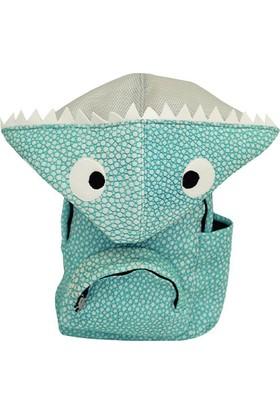 Morikukko Köpekbalığı Çocuk Kapüşonlu Sırt Çantası