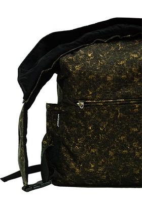 Morikukko Altın Renklı Katlanabılır Kapusonlu Sırt Cantası