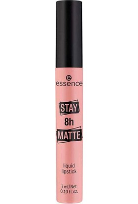 Essence Stay 8h Matte Liquid Lipstick - Mat Likit Ruj No:01
