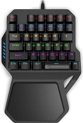 Rampage KB-R77 USB Rainbow Backlight Outemu Blue Switch Mekanik 36 Tuşlu Mini Gaming Oyuncu Klavyesi