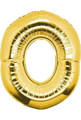 Pera Balon Parti 0 Rakamı Gold Folyo Balon 102 cm