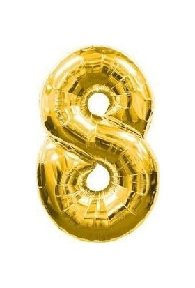 Pera Balon Parti 8 Rakamı Gold Folyo Balon 102 cm