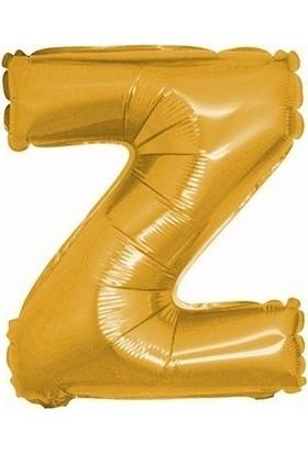 Pera Balon Parti Z Harf Gold Folyo Balon 102 cm