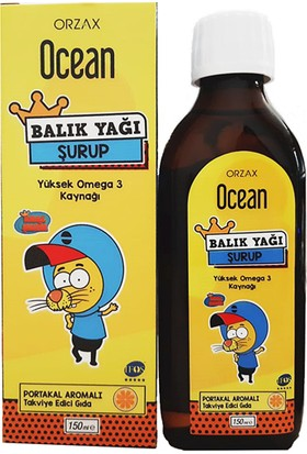 Ocean Balık Yağı Portakal Aromalı Omega 3 Kral Şakir 150 ml