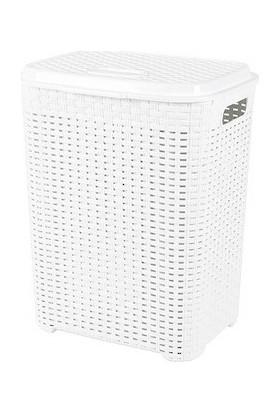 Aslife Kirli Çamaşır Sepeti Rattan 45 lt Beyaz