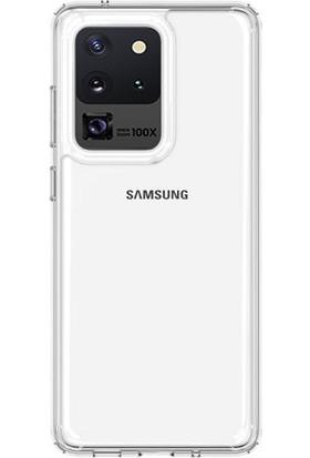 Vendas Samsung Galaxy S20 Ultra Air Craft Serisi Sert Silikon Kılıf Şeffaf