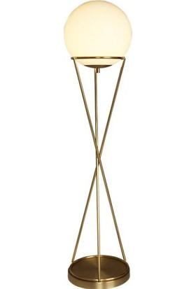Tsd Dekorasyon Metal Ayaklı Lambader Altın Küre