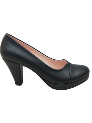Zarif 500P 10MM Deri Platform Topuklu Kadın Ayakkabı
