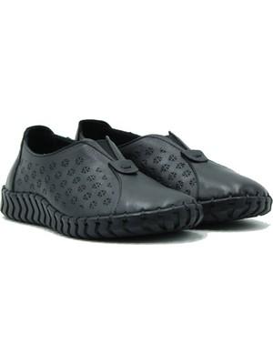 Venüs Hakiki Deri Kadın Ayakkabı 2010701Y Siyah