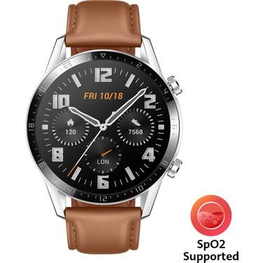 huawei watch gt2 46mm classic akilli saat kahverengi