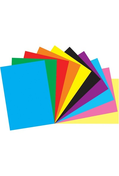 Renkli Fon Kartonu 23 x 34 cm 10'lu