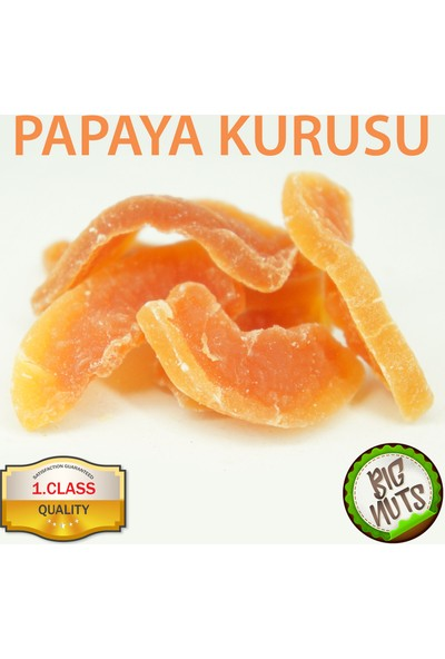 Big Nuts Papaya Kurusu Tropikal Kurutulmuş Meyve 1 kg