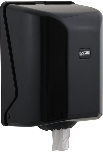 Vialli OG1B İçten Çekmeli Kağıt Havlu Dispenseri Siyah