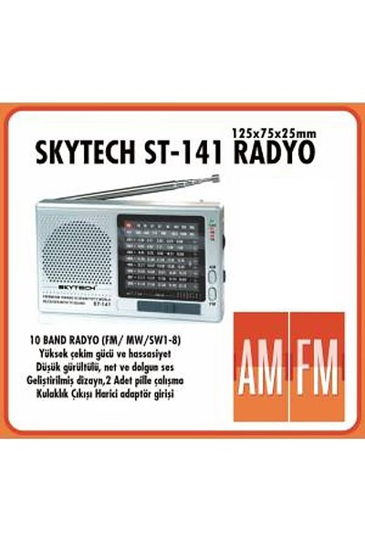 Skytech ST-141 Pilli Radyo
