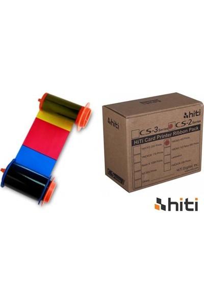Hiti Cs-2 Ribon Ymcko 400 Baskı Renkli Ribon+Çip