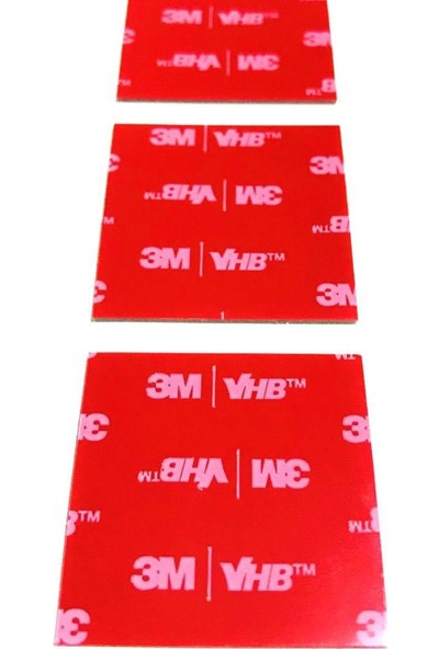 3M Vhb Çift Taraflı Bant Die Cut Kesim 50 mm x 50 mm 30 Adet