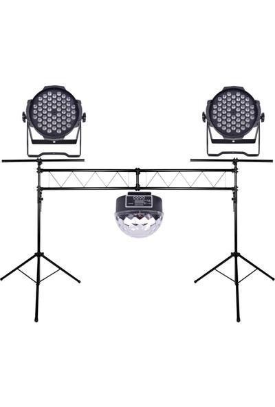 Quenlite Sahne Işık Sistemi Start Paket-1 (Stand Top Küre Led Par)