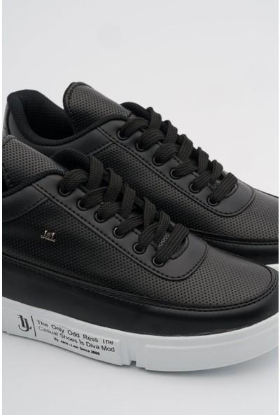 Jack Lions Depodan Siyah Erkek Casual Ayakkabı