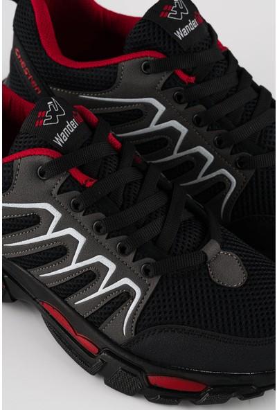 Wanderfull Depodan Siyah Erkek Günlük Spor Ayakkabı Sneaker