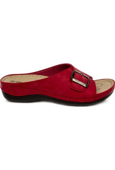 Muya 98258 Z Tek Toka Kırmızı Kadın Terlik