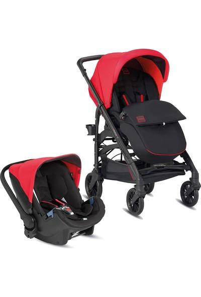 Inglesina Trilogy City Colors Travel Sistem Bebek Arabası - Kırmızı