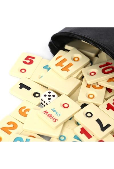 Pusula Oyun Melamin Kalın Büyük Yazılı Okey 101 Oyunu Okey Taşları