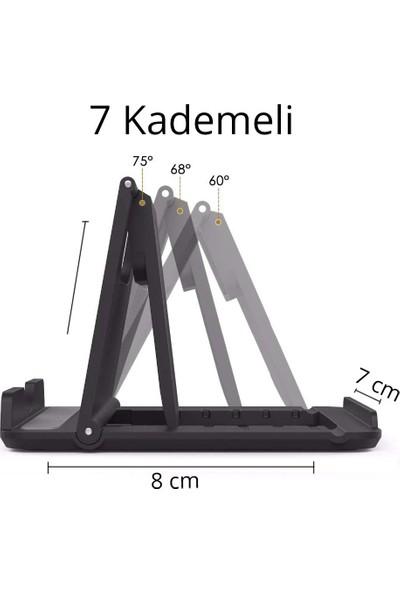 Wlue Masaüstü Mini Telefon ve Tablet Tutucu Stand 7 Kademeli