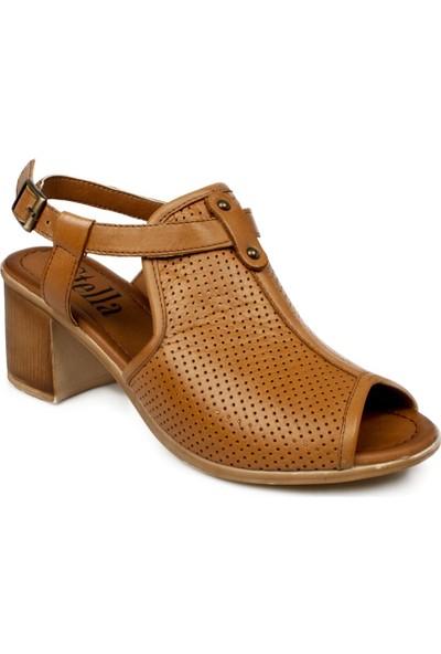 Stella 20350Z Fashion Topuklu Taba Kadın Sandalet