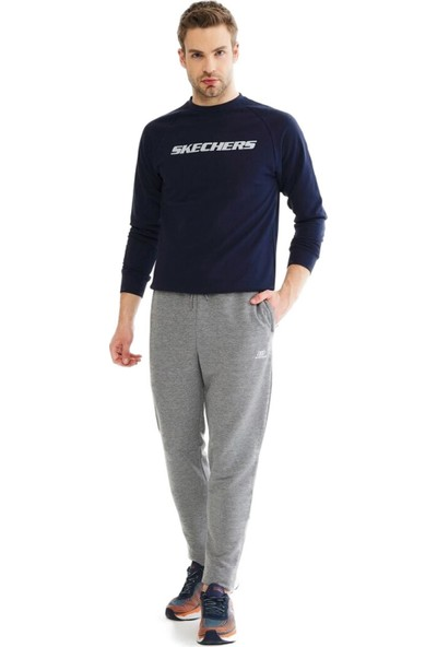 Skechers S201011 Lightweight Fleece Sweatpant Gri Erkek Giyim