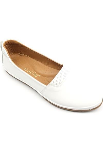 Estile 63 Kadın Ayakkabısı Babet Deri