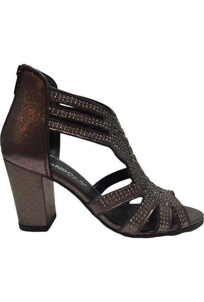 Pandora Moda 1353 Kadın Abiye Ayakkabı Platin