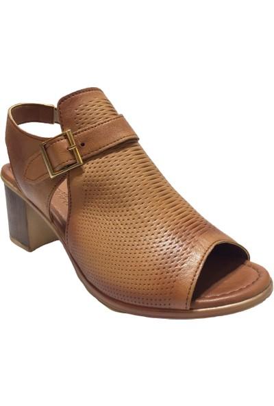 Pandora Moda 426 Kadın Abiye Ayakkabı Taba