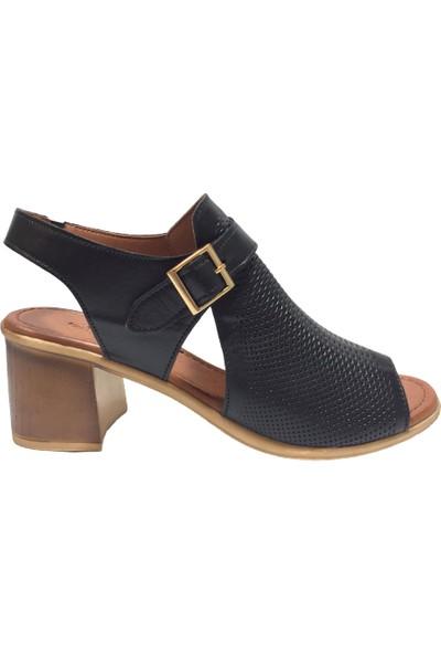 Pandora Moda 426 Kadın Abiye Ayakkabı Siyah