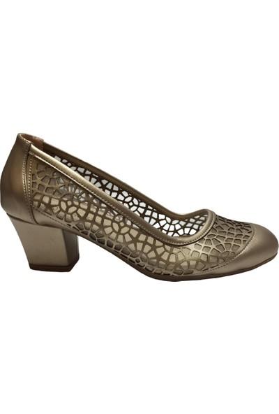 Pandora Moda 810 Kadın Abiye Ayakkabı Altın