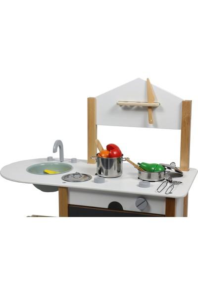 Edu Dizayn Ahşap Eğitici Oyuncak Montessori Mutfak