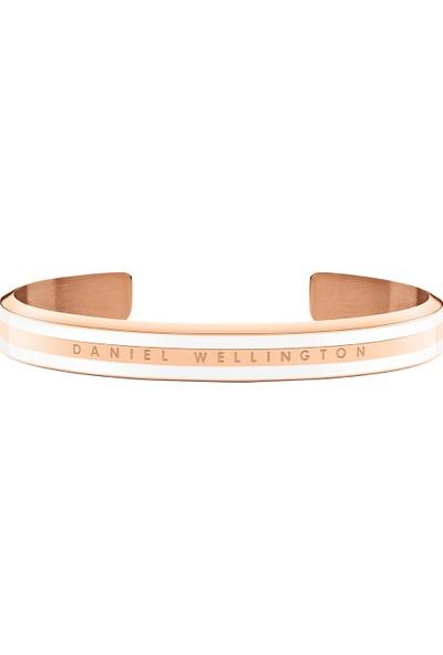 Classic Slim Bracelet Rose Gold Satin White Medium - Unisex