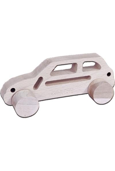 Omca Ahsap Oyuncak Suv Model Araba Masif Ahsap