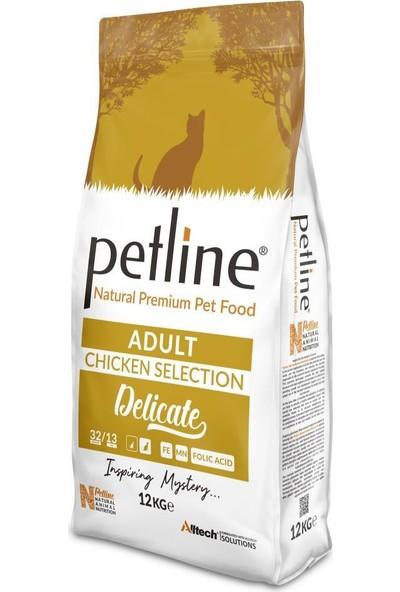 Pet Line Natural Premium Chicken Tavuklu Yetişkin Kedi Maması 12 kg