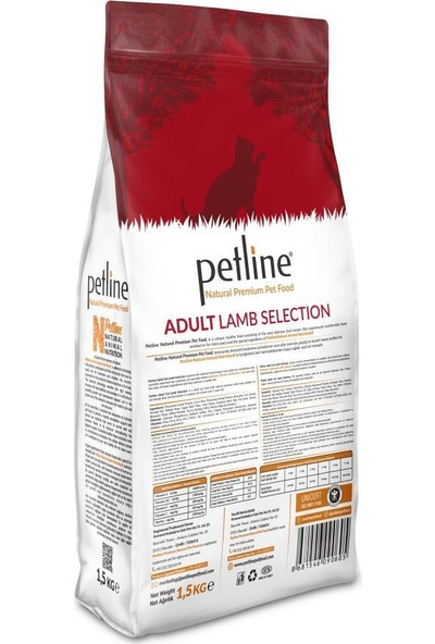Pet Line Natural Premium Lamb Kuzu Etli Yetişkin Kedi Maması 1,5 kg