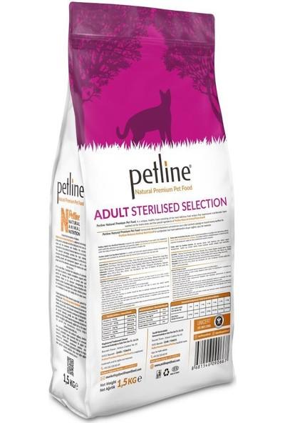 Pet Line Natural Premium Kısırlaştırılmış Kedi Maması 1,5 kg