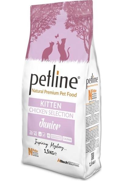 Pet Line Natural Premium Kitten Tavuklu Yavru Kedi Maması 1,5 kg