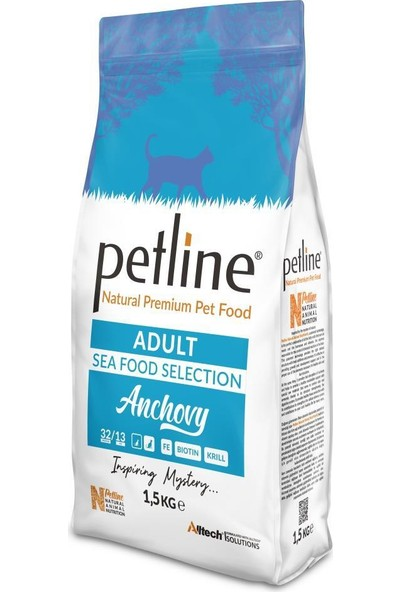 Pet Line Natural Premium Seafood Hamsili Yetişkin Kedi Maması 12 kg