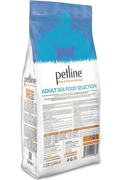 Pet Line Natural Premium Seafood Hamsili Yetişkin Kedi Maması 1,5 kg