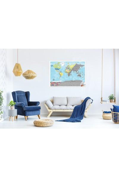 Game Art Türkçe Kazınabilir Dünya Haritası 70 x 100 cm