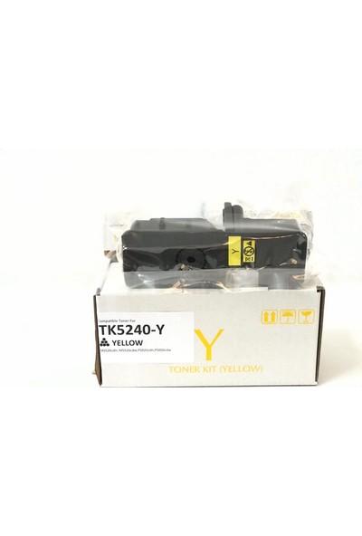 Bitoner Kyocera TK5240 Muadil Toner 3.000 Sayfa Sarı