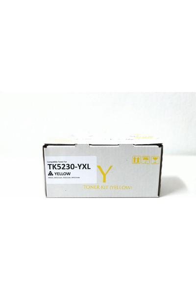 Bitoner Kyocera TK5230 Yüksek Kapasite Muadil Toner 3.300 Sayfa Sarı